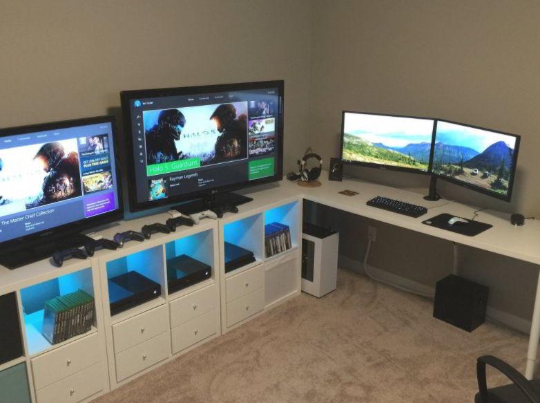 Small Video Game Room Setup