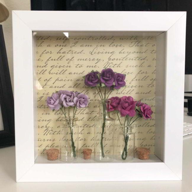 Diy Flowers Shadow Box