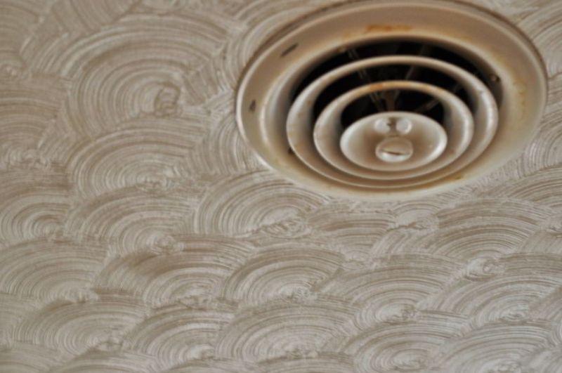 Unique Swirled Ceiling Texture