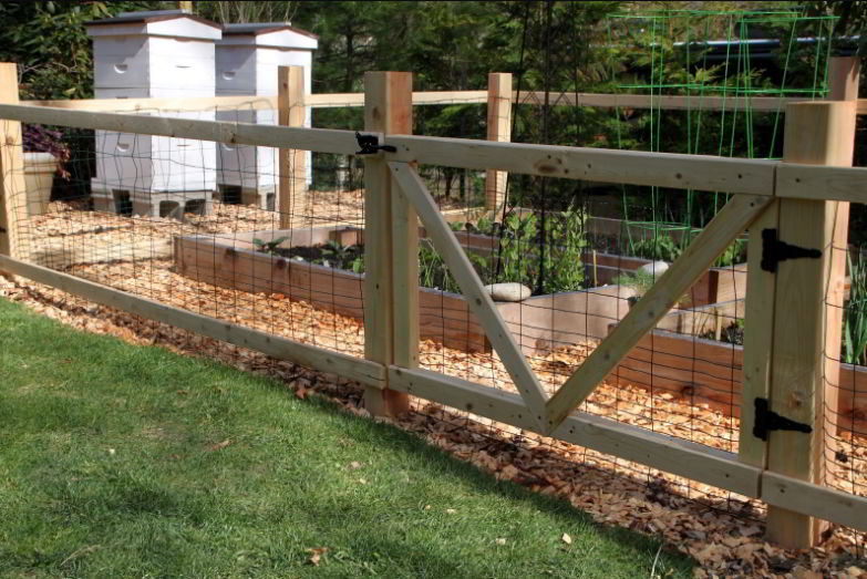 Fencing with Wooden Frame