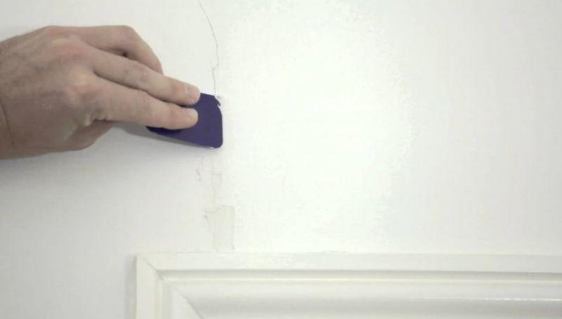 small cracks in walls