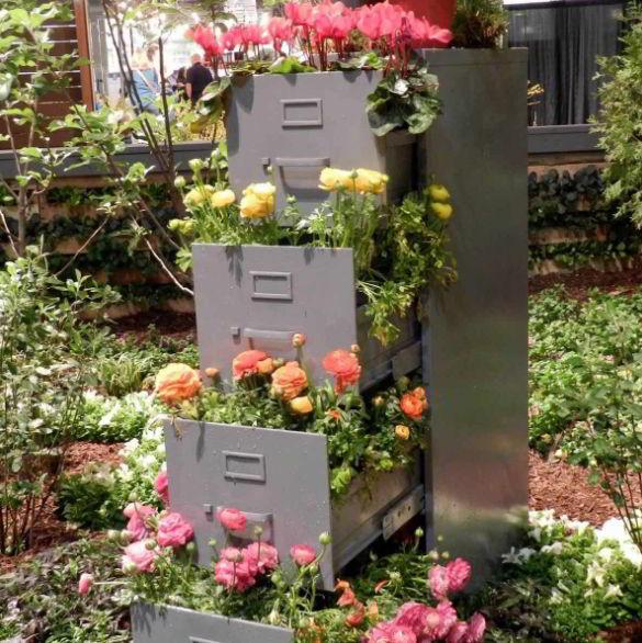 File Cabinet Planter Ideas