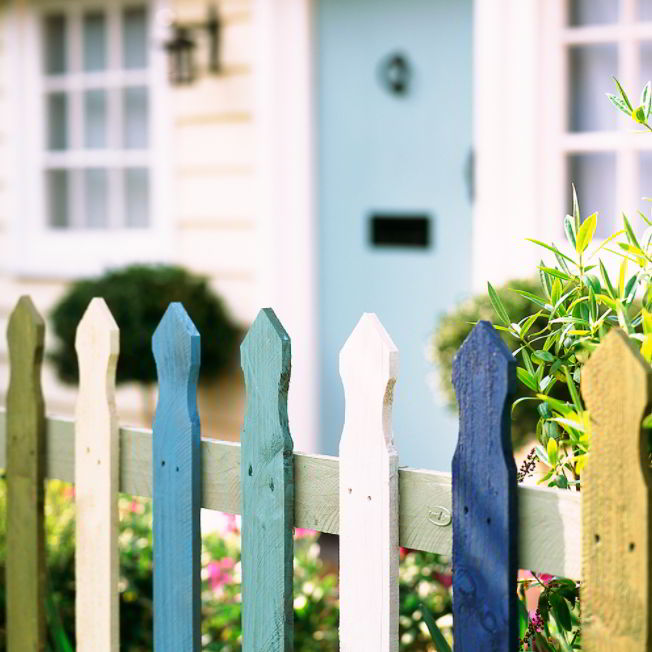 rustic fence image