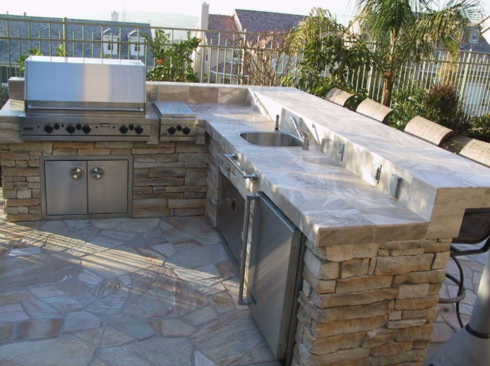 Modern grill patio image
