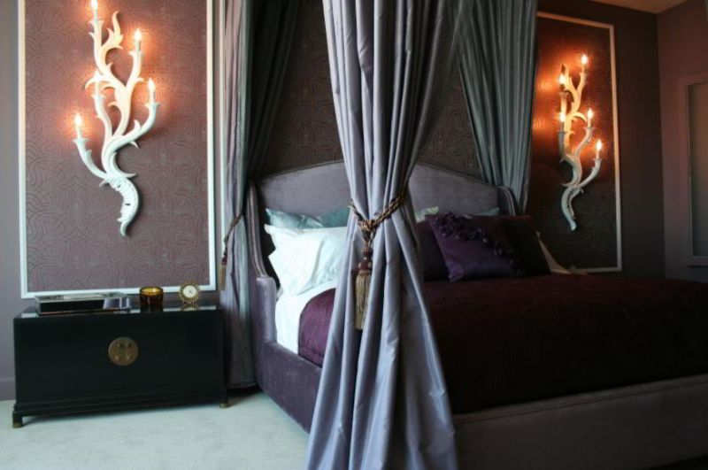 Elegant Gothic Bedroom with Bed Canopy