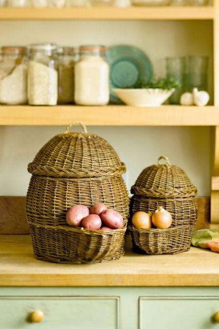 multipurpose wicker basket