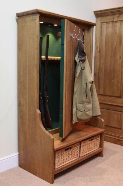 Gun concealment coat rack