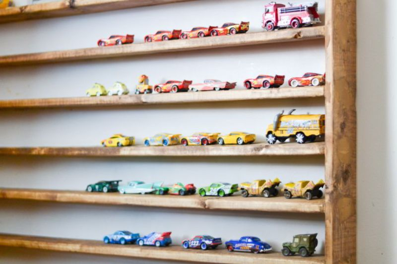 Wall Mounted Toy Car Holder Design