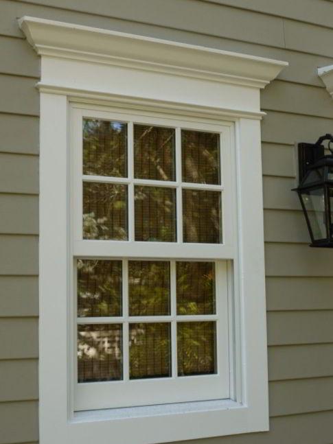 Simple Farmhouse Window Casing