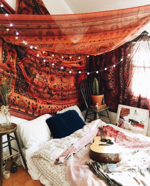 tapestry ceiling ideas