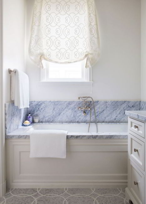Tie-up Shade for Bathroom Window