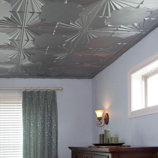 Patterned Tiles Bathroom Ceiling