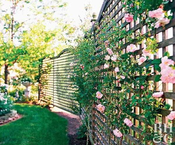 Floral Fence Decoration