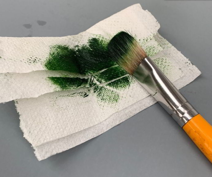 how to clean acrylic paint brushes between colors
