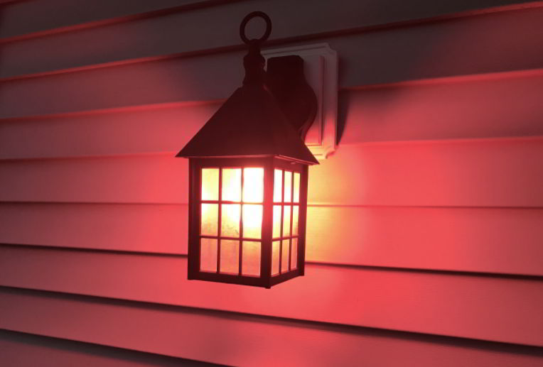 Pink porch light meaning