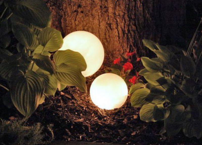 Solar Light Ideas Glowing Orbs