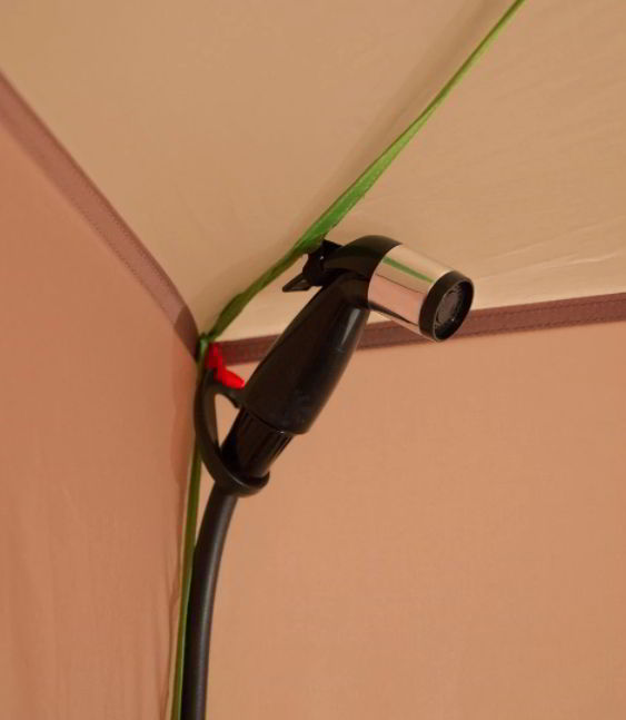 Solar Shower in a Tent for Privacy
