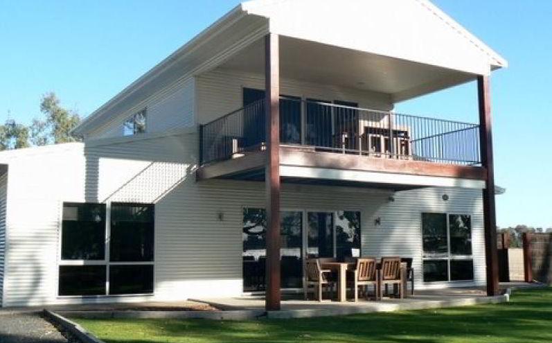 living quarters and balcony