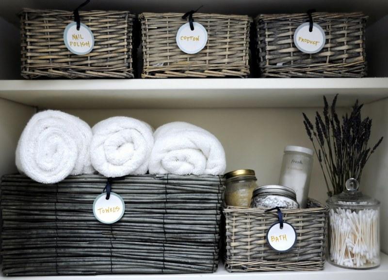 Rustic Wicker Blanket Storage Basket