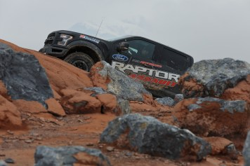 Ford providing complimentary off-road driving instruction exclusively to 2017 F-150 Raptor owners at Ford Performance Racing School in Grantsville, Utah. (Credit: Ford Performance Racing School)