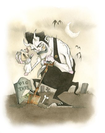GRIM FIEND gris grimly grave robber ghoul devil demon