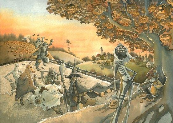 Halloween tree gris grimly ray bradbury jackolantern autumn jack skelton harvest