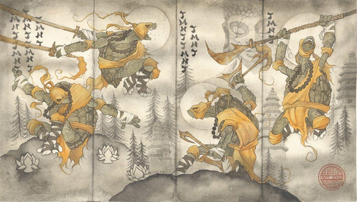 gris grimly Shaolin training buddhist monk buddha teenage mutant ninja turtles TMNT