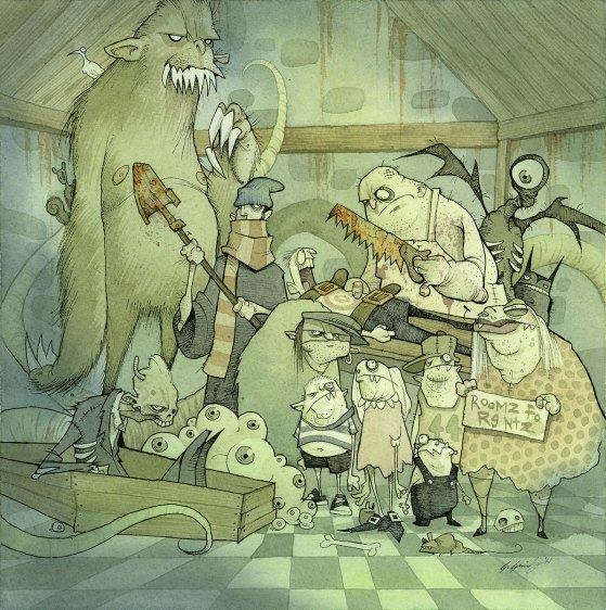 The unearthly ones gris grimly creature feature monsters album art cover cd