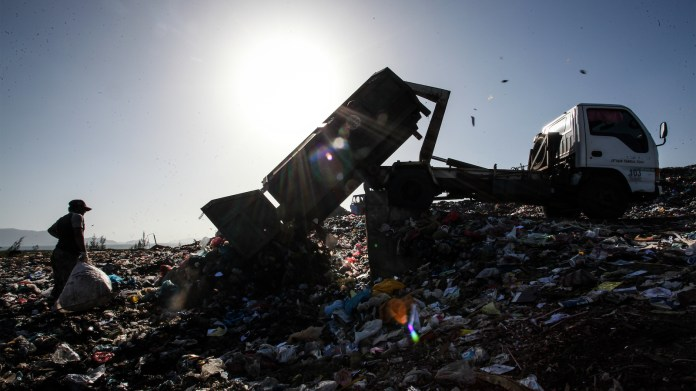 Garbage heap in Indonesia