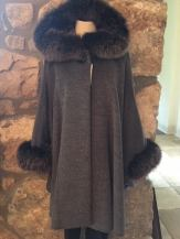 Grey cape with Fox