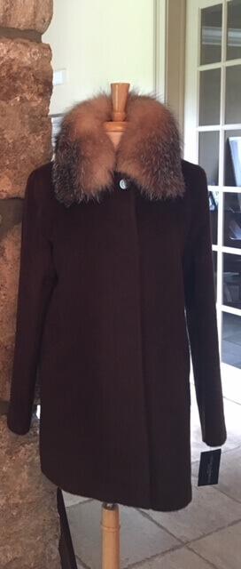 Grist mill Farms fox coat no hood