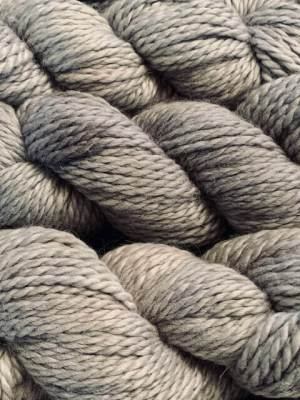 closeup of gray yarn