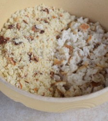 Cornbread Dressing HOw To 2 Crumbled in Bowl