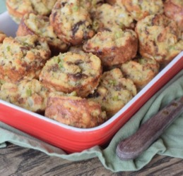 Cornbread Dressing Red Dish 1