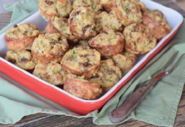 Cornbread Dressing REd dish 2