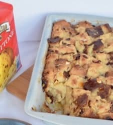 What do you do with store bought panettone you were given as a hostess gift for the holidays? Cube it up and make bread pudding!