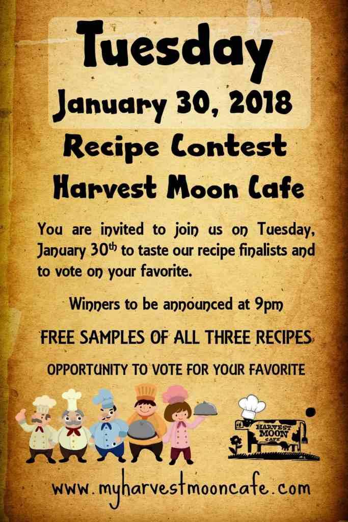 recipe contest poster