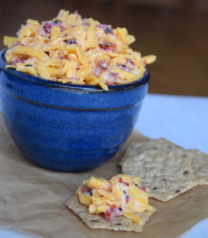 Pimiento Cheese with Fire-Roasted Peppers Roast your own or they also come in a jar like pimiento peppers.