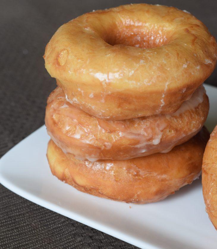 Stack of 3 copy kat Krispy Kreme donuts