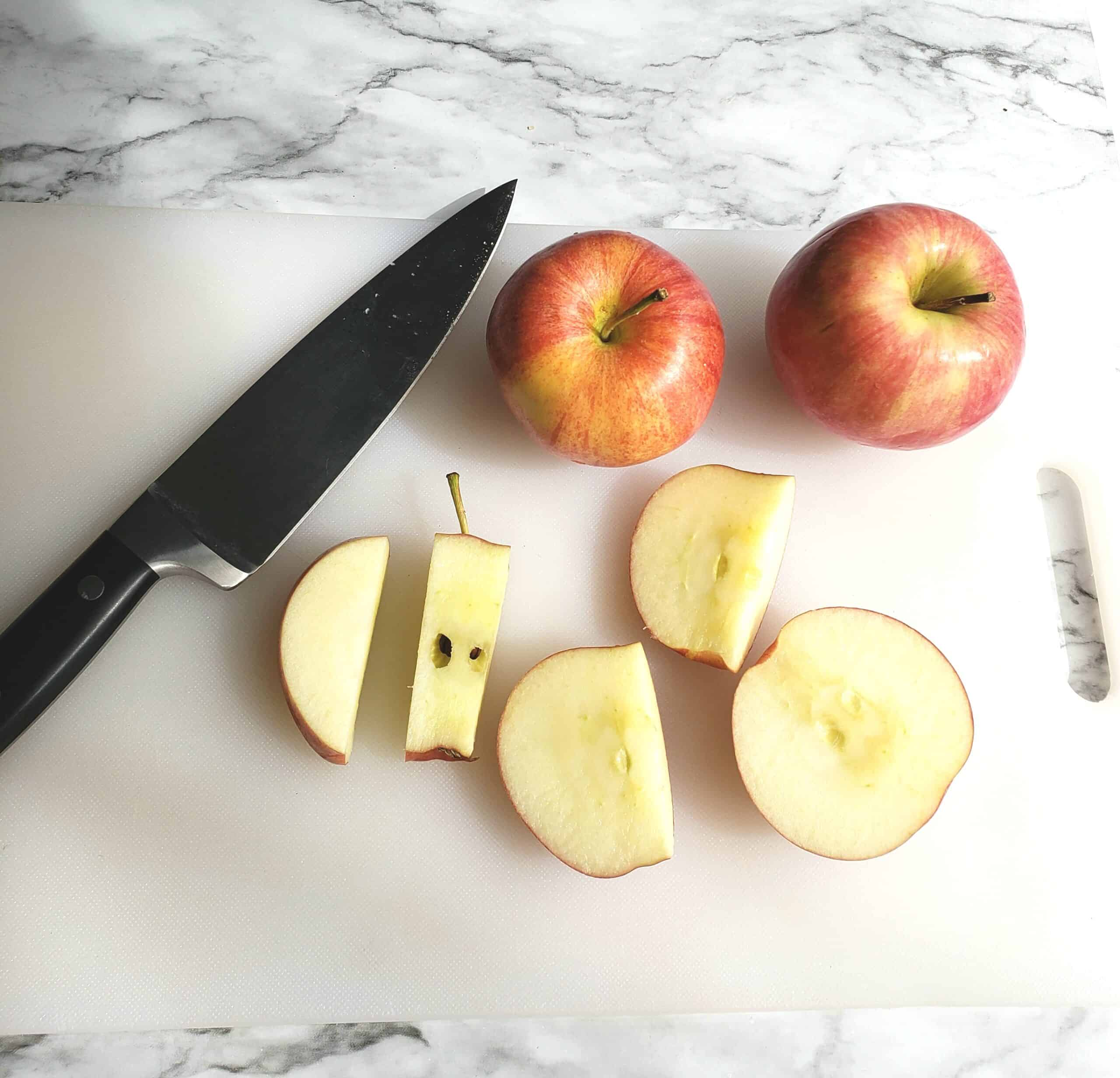 Cut apple without coring