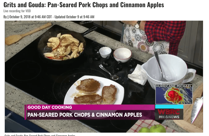 Good Day Alabama Pork Chops and Fried Apples video pic