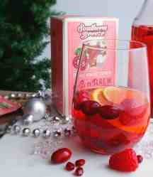 "Serve Sweet Tea Sangria ""Skinny"" Mocktail at a Christmas tree trimming party."