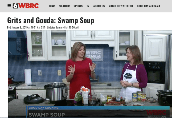 Good Day Alabama with Claire Huddleson and Grits and Gouda's Kathleen Phillips. Beans and Greens video: Instant Pot Collard Greens and Shortcut Turnip Greens Soup