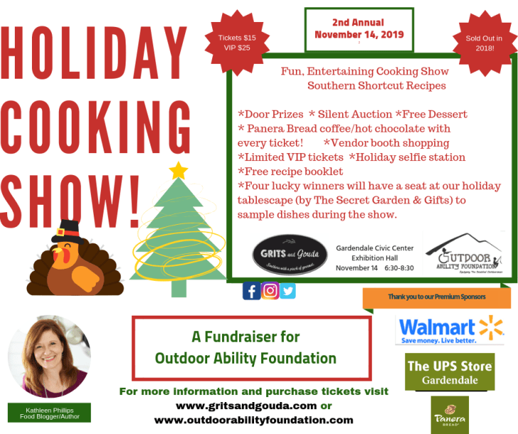 Grits and Gouda's Holiday Cooking Show flyer 10 2 19