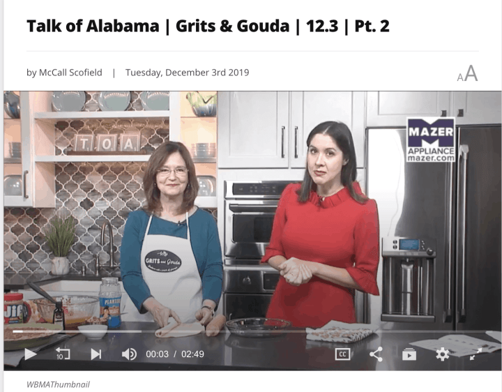 two ladies in Talk of Alabama tv kitchen