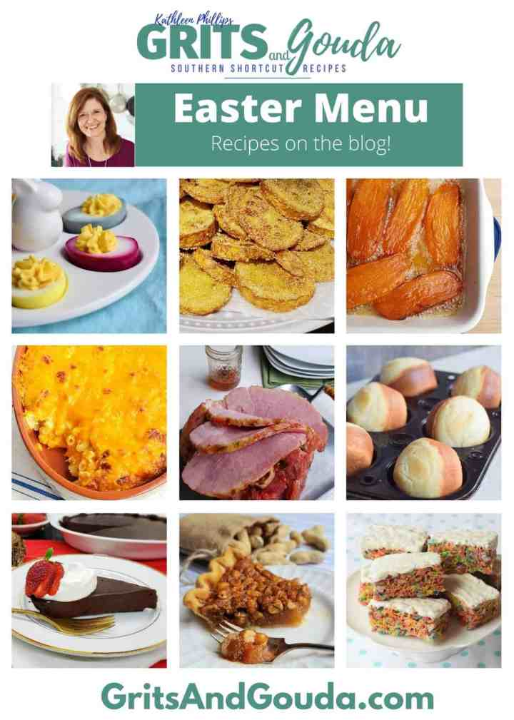 Easter menu roundup collage