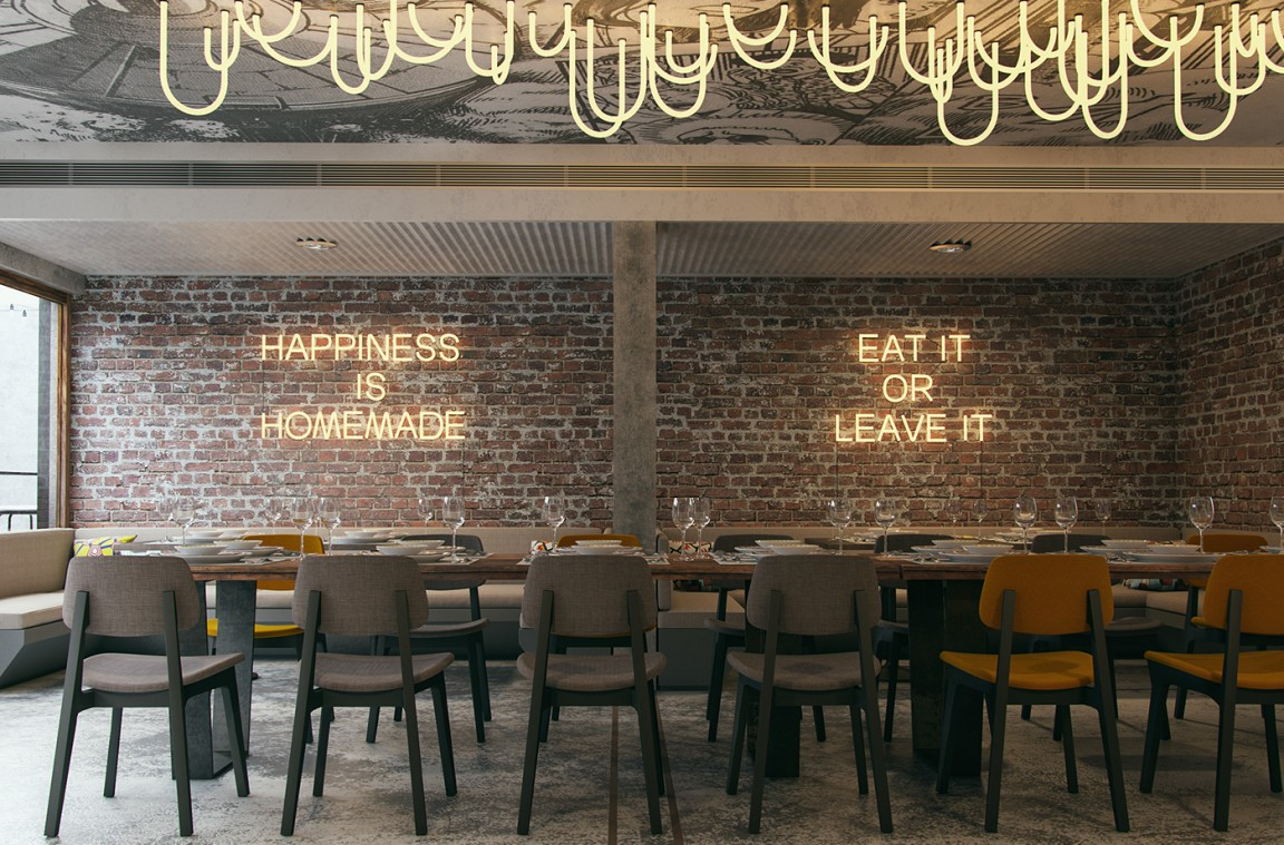 Firefly restaurant interior design  Grits  Grids