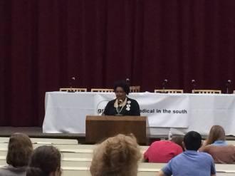 Keynote speaker Collette Flanagan, Founder, Mothers Against Police Brutality