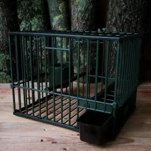 cage grive plastique moyenne