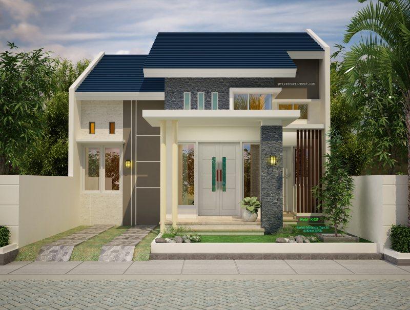 Denah Rumah Minimalis Type 72 Lebar 8 Meter  Jasa Desain